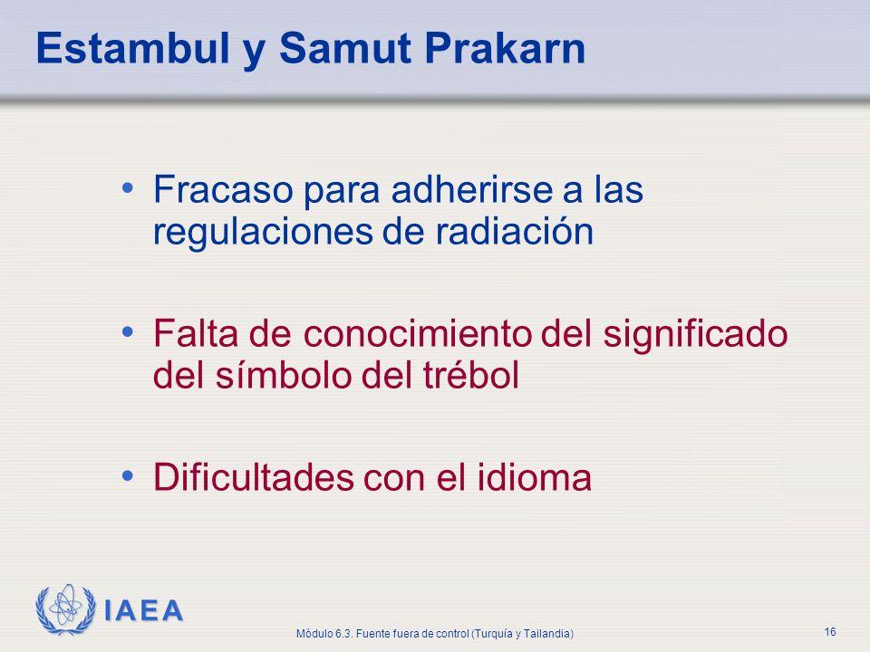 Estambul y Samut Prakarn