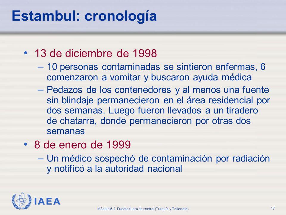 Estambul: cronología 13 de diciembre de 1998 8 de enero de 1999