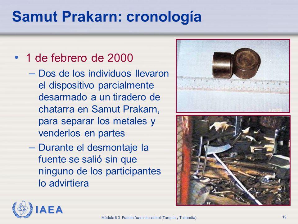 Samut Prakarn: cronología