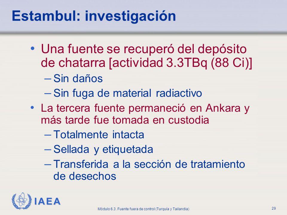 Estambul: investigación