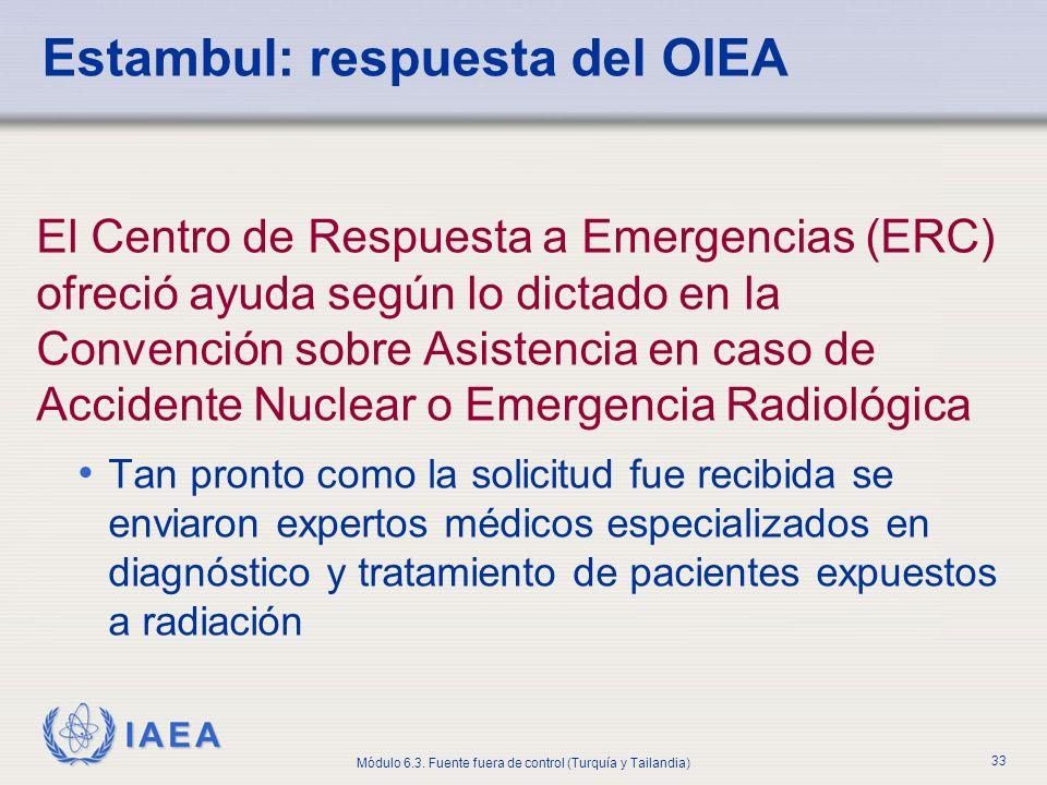 Estambul: respuesta del OIEA