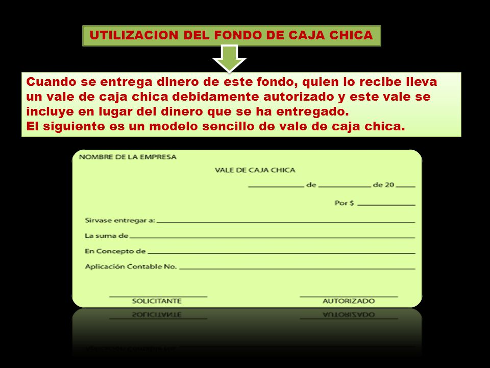 UTILIZACION DEL FONDO DE CAJA CHICA