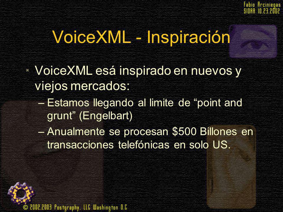 VoiceXML - Inspiración