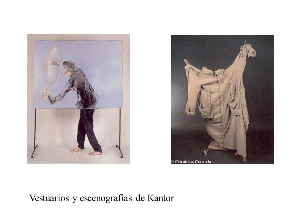 Vestuarios y escenografías de Kantor