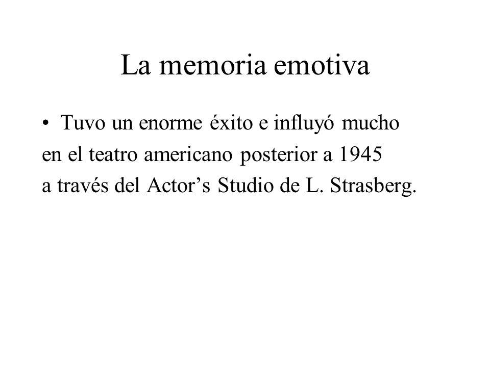 La memoria emotiva Tuvo un enorme éxito e influyó mucho