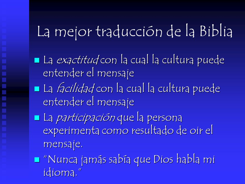 La mejor traducción de la Biblia