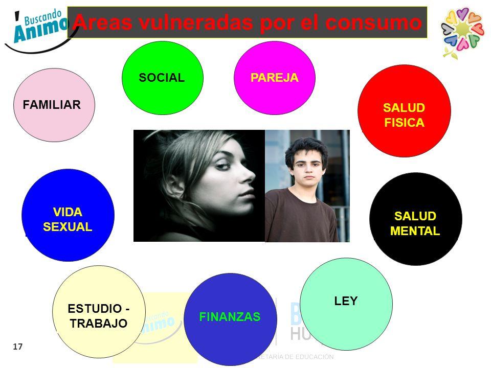 Areas vulneradas por el consumo