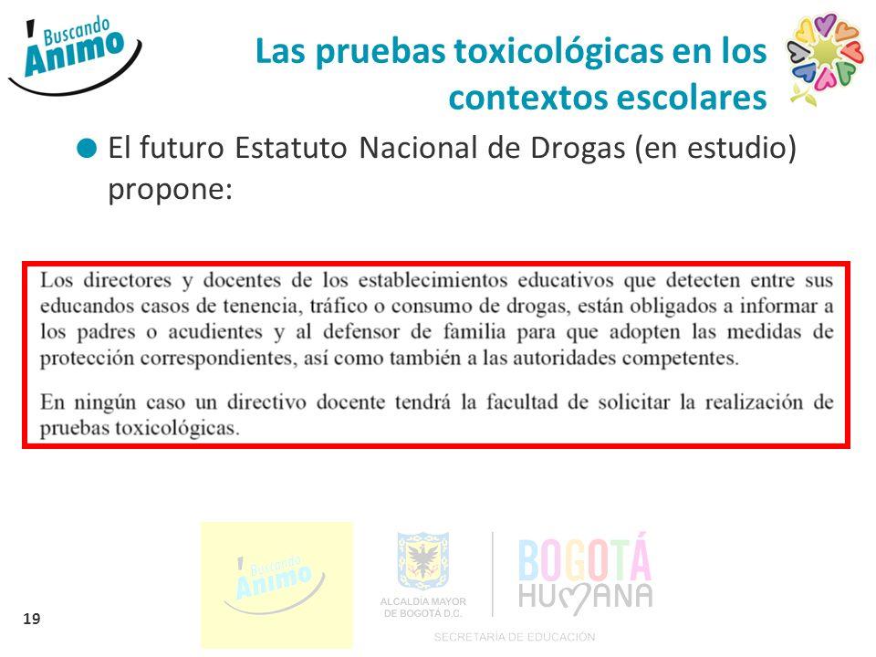 Las pruebas toxicológicas en los contextos escolares