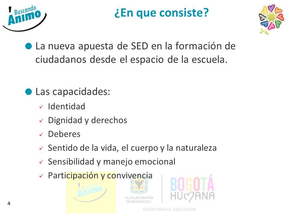 ¿En que consiste La nueva apuesta de SED en la formación de ciudadanos desde el espacio de la escuela.