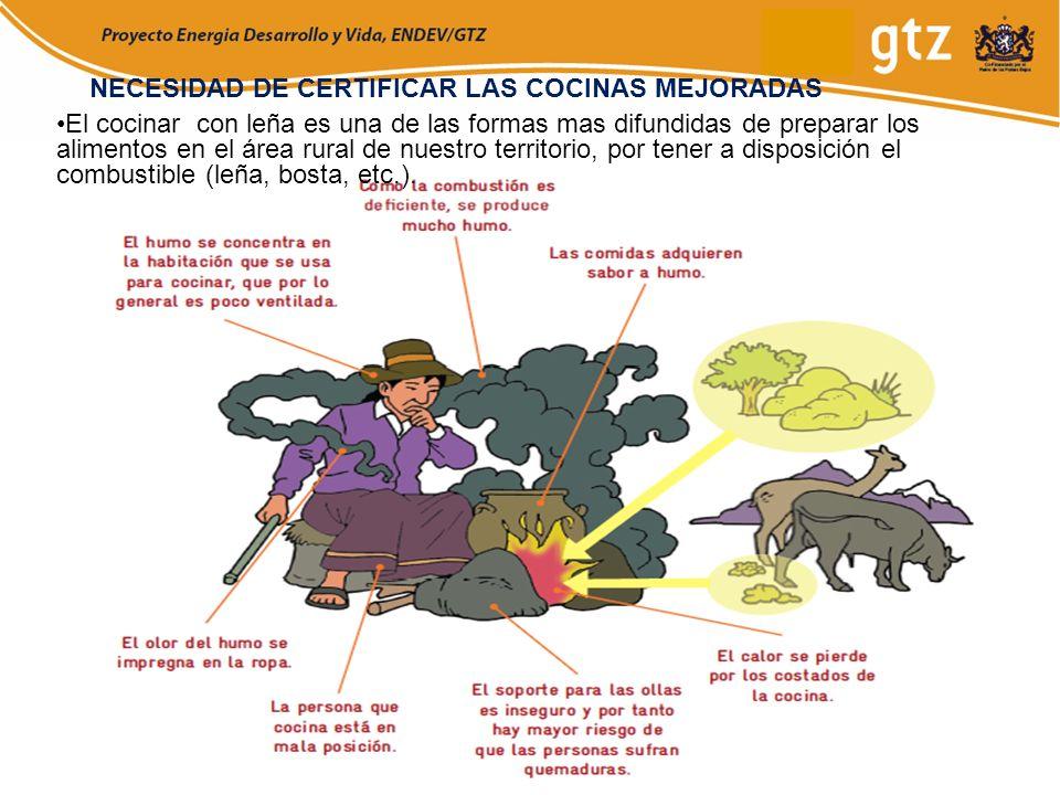 NECESIDAD DE CERTIFICAR LAS COCINAS MEJORADAS