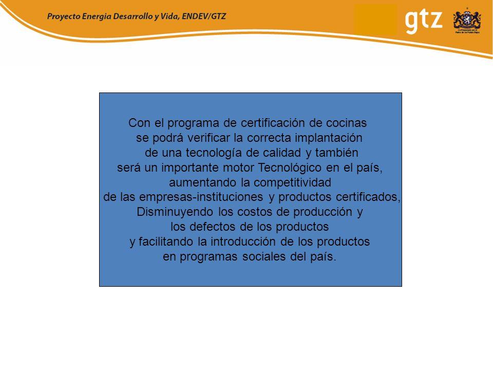 Con el programa de certificación de cocinas