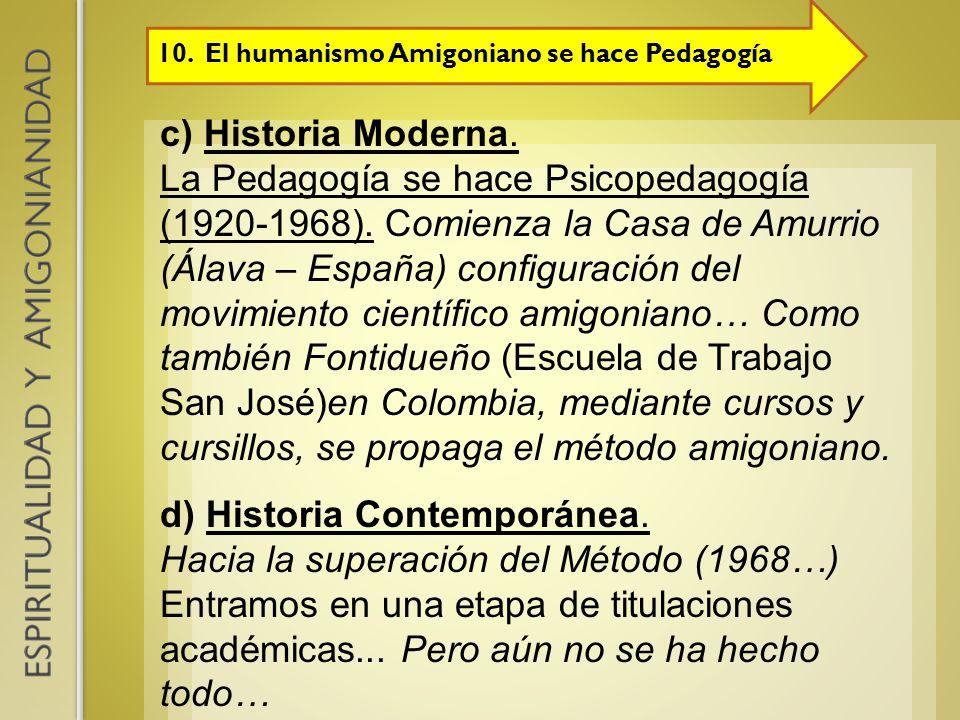 d) Historia Contemporánea.