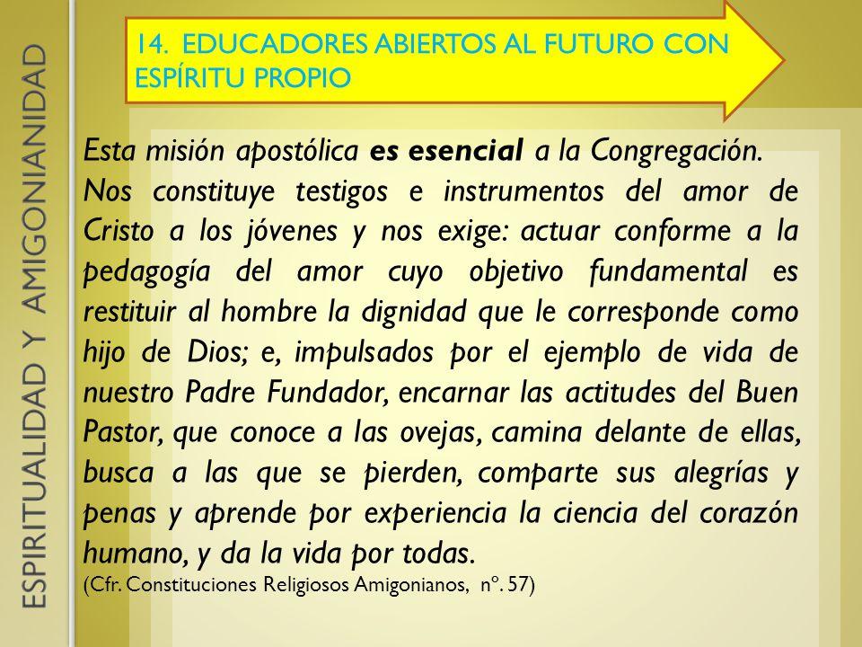 Esta misión apostólica es esencial a la Congregación.