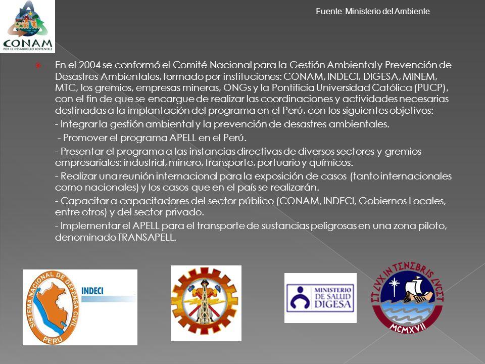 - Promover el programa APELL en el Perú.