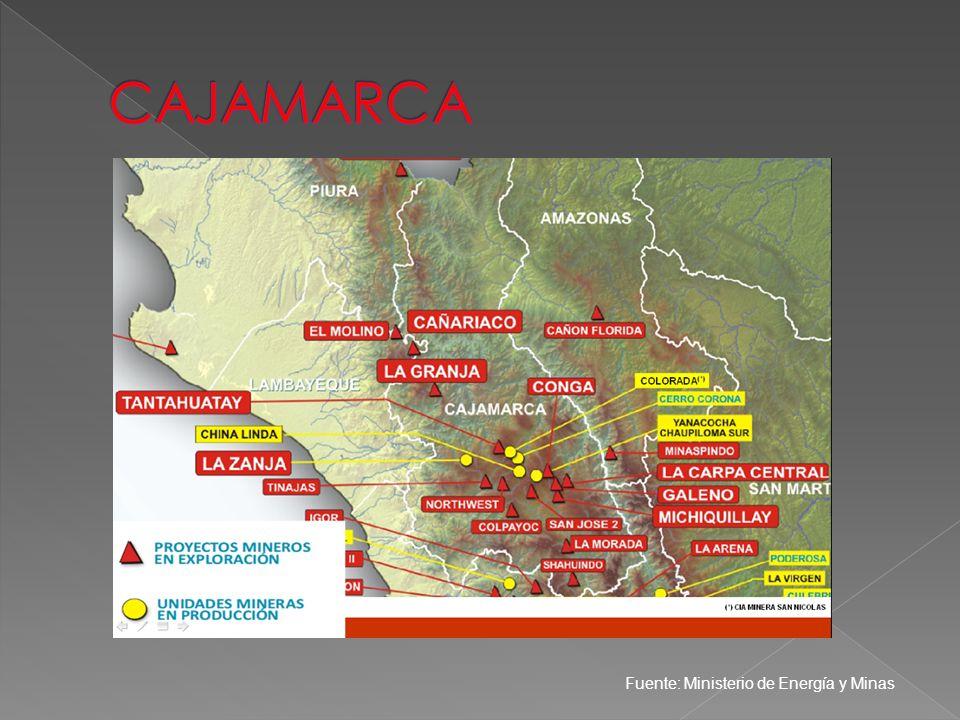 CAJAMARCA Fuente: Ministerio de Energía y Minas