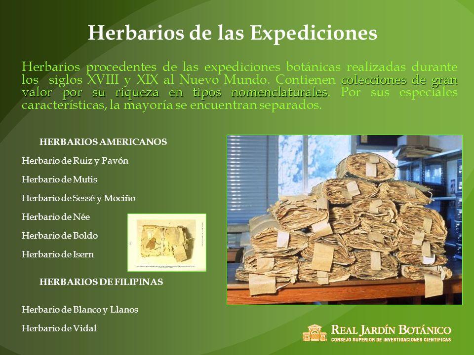 Herbarios de las Expediciones