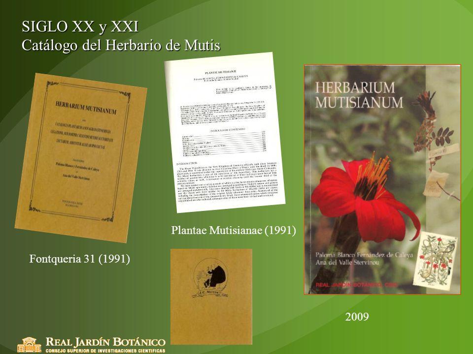 Catálogo del Herbario de Mutis