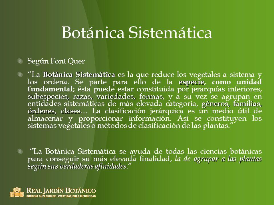 Botánica Sistemática Según Font Quer