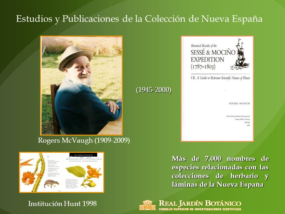 Estudios y Publicaciones de la Colección de Nueva España