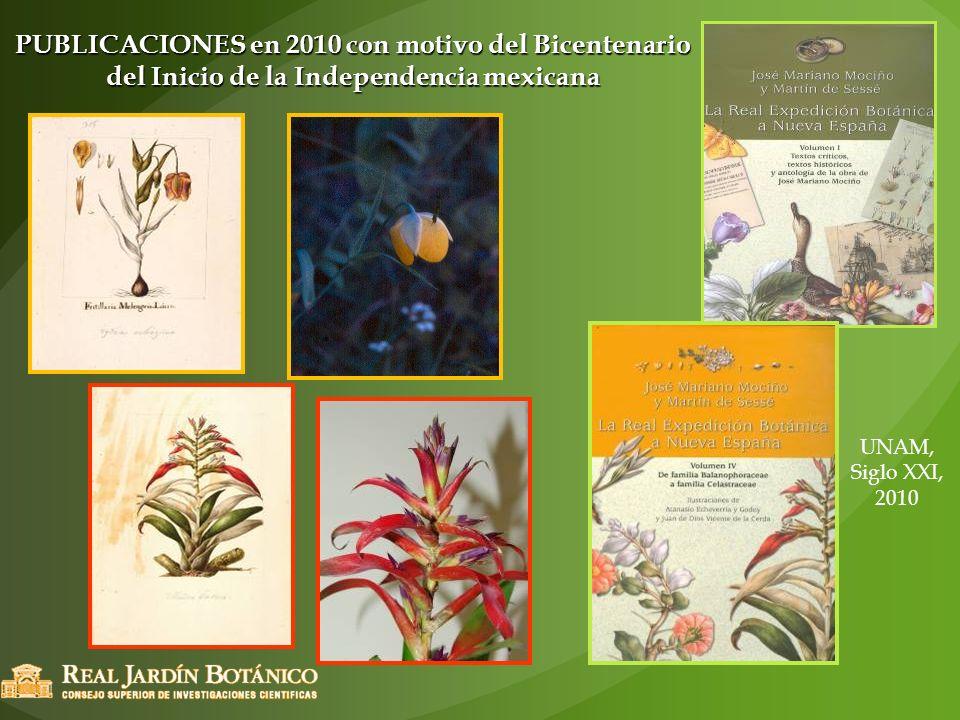 PUBLICACIONES en 2010 con motivo del Bicentenario del Inicio de la Independencia mexicana