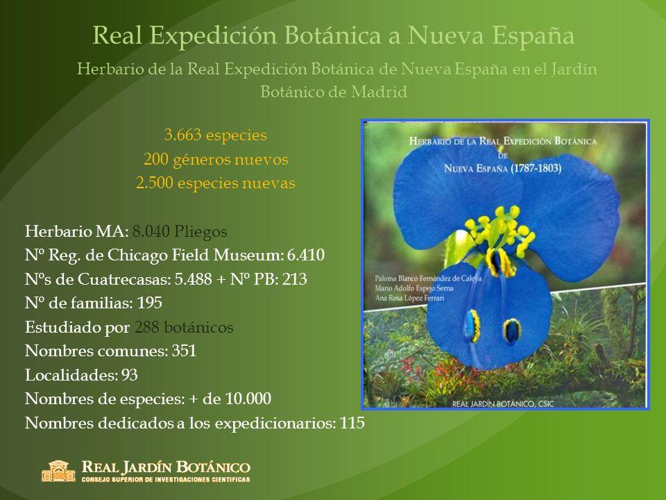 Real Expedición Botánica a Nueva España Herbario de la Real Expedición Botánica de Nueva España en el Jardín Botánico de Madrid