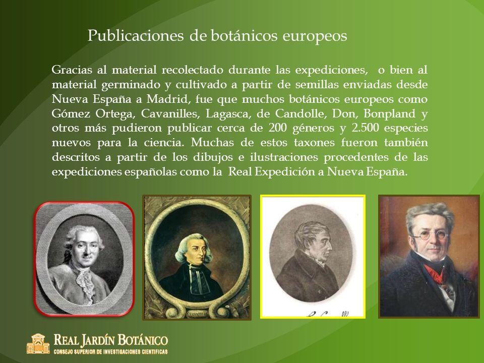 Publicaciones de botánicos europeos