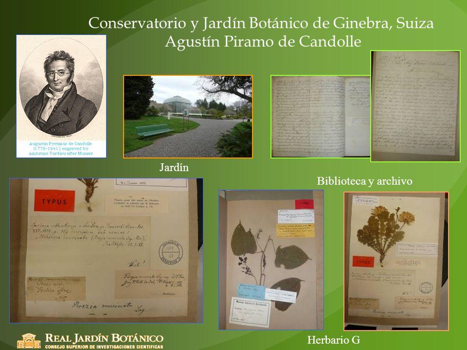 Conservatorio y Jardín Botánico de Ginebra, Suiza Agustín Piramo de Candolle
