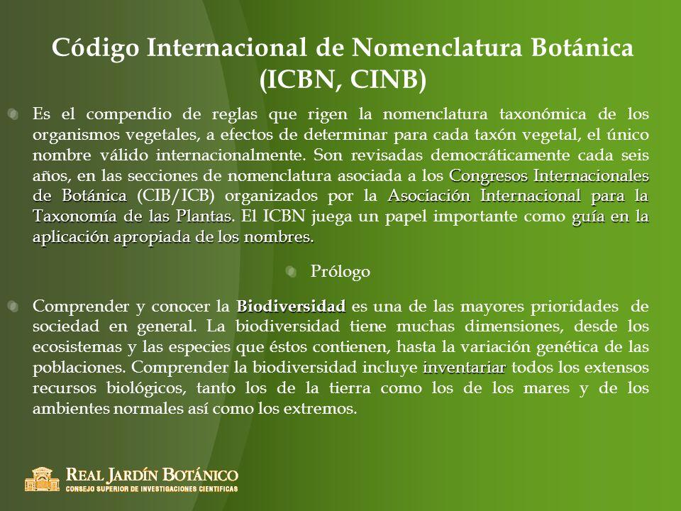 Código Internacional de Nomenclatura Botánica (ICBN, CINB)
