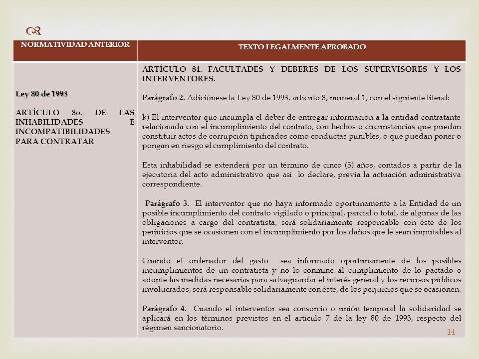 CAMBIO NORMATIVO EN MATERIA CONTRACTUAL (Ley 1474 de 2011) - ppt ...