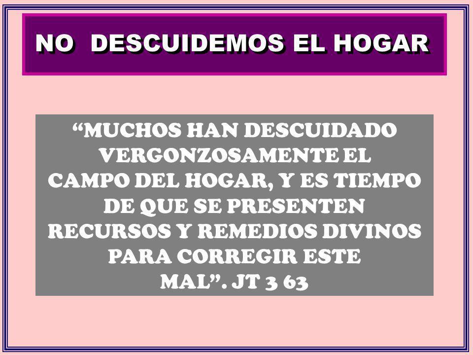 NO DESCUIDEMOS EL HOGAR