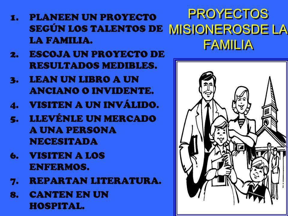PROYECTOS MISIONEROSDE LA FAMILIA