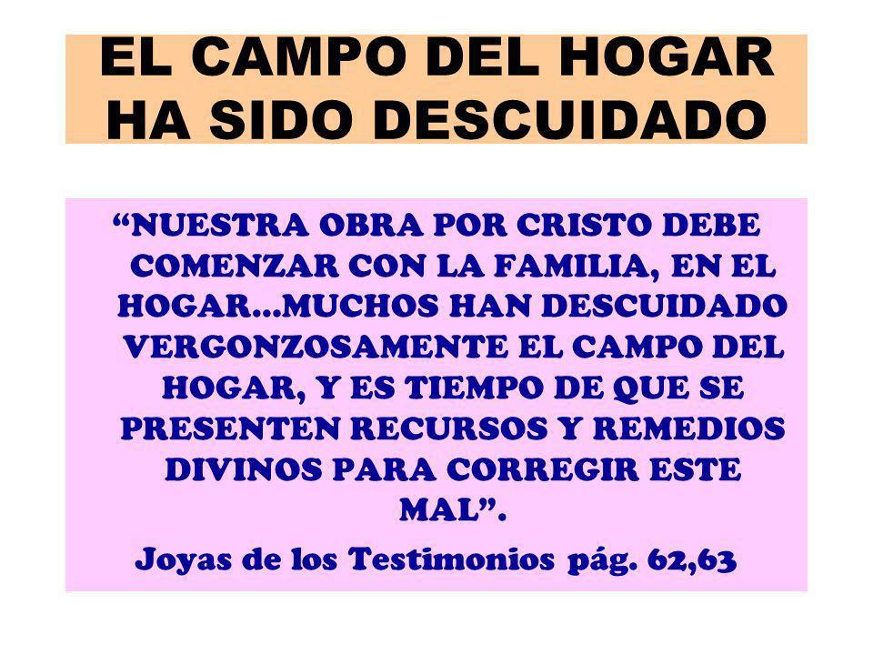 EL CAMPO DEL HOGAR HA SIDO DESCUIDADO