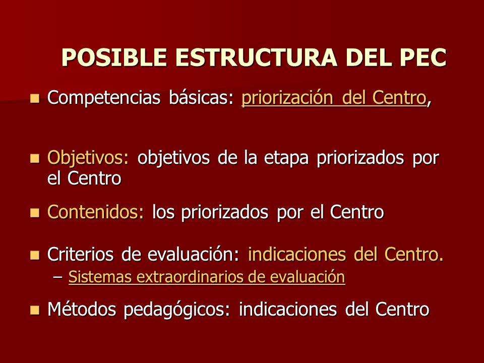 POSIBLE ESTRUCTURA DEL PEC