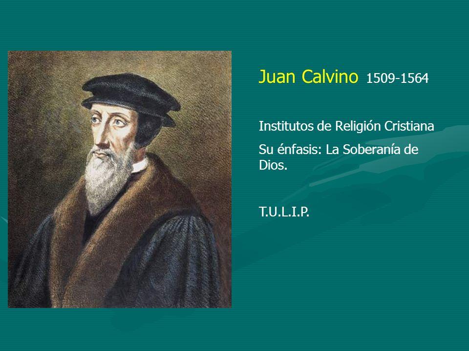 Juan Calvino 1509-1564 Institutos de Religión Cristiana
