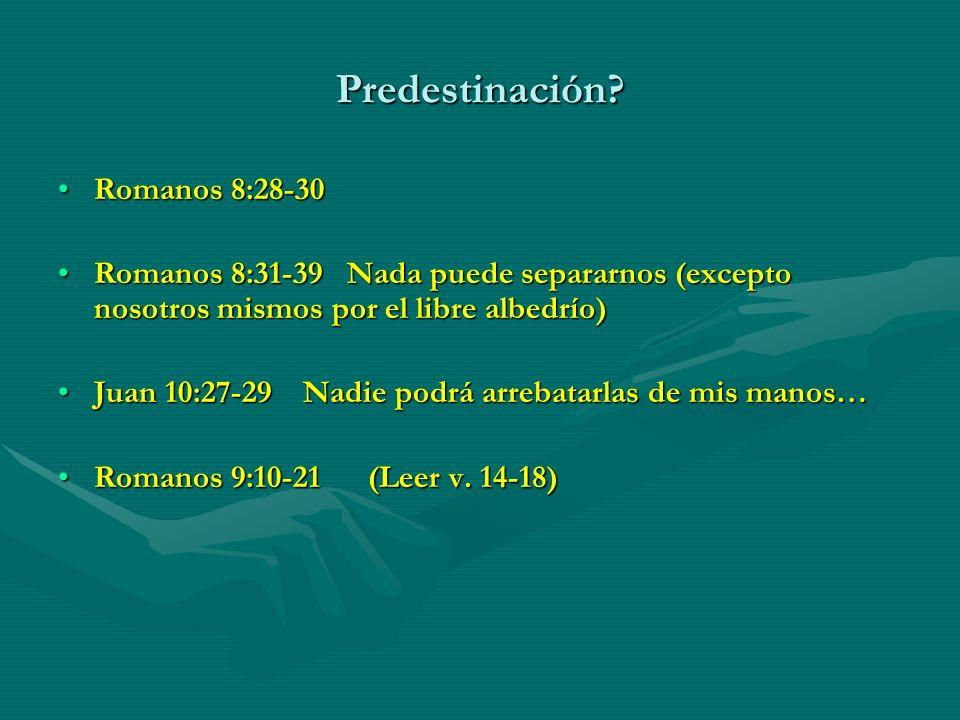 Predestinación Romanos 8:28-30