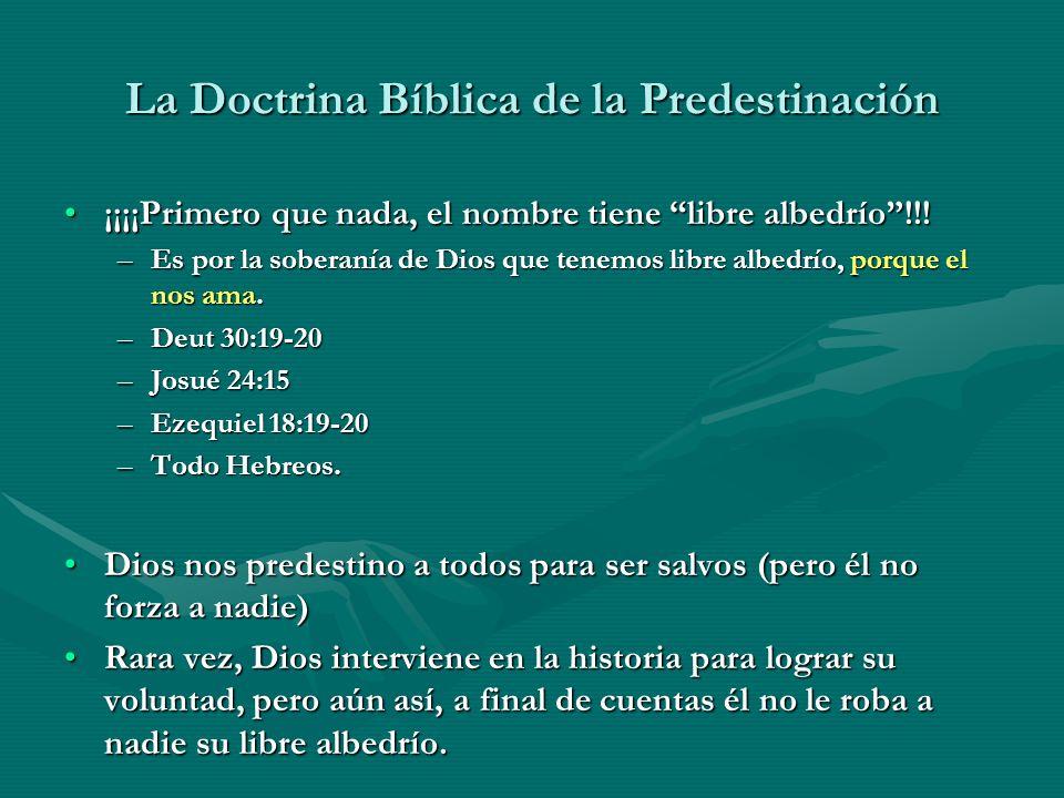 La Doctrina Bíblica de la Predestinación