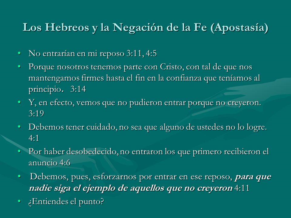 Los Hebreos y la Negación de la Fe (Apostasía)