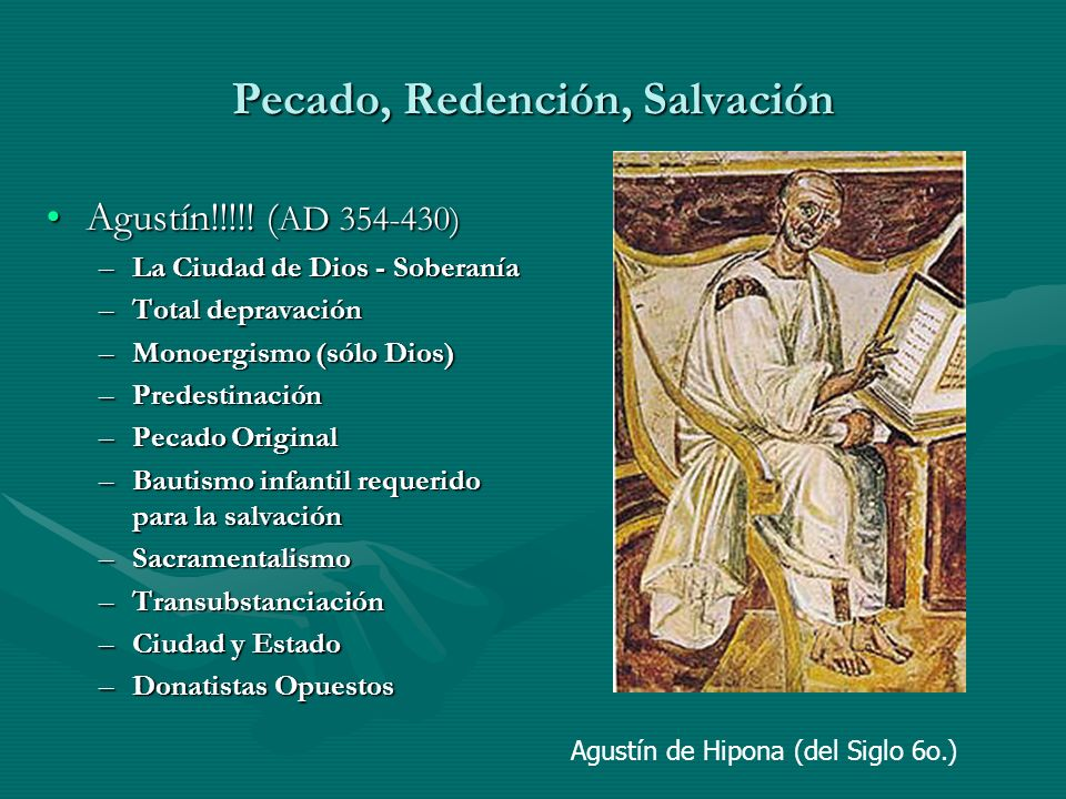 Pecado, Redención, Salvación