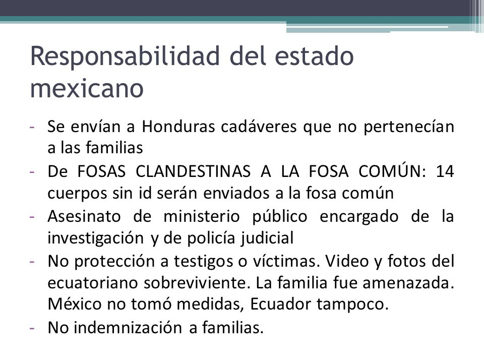 Responsabilidad del estado mexicano