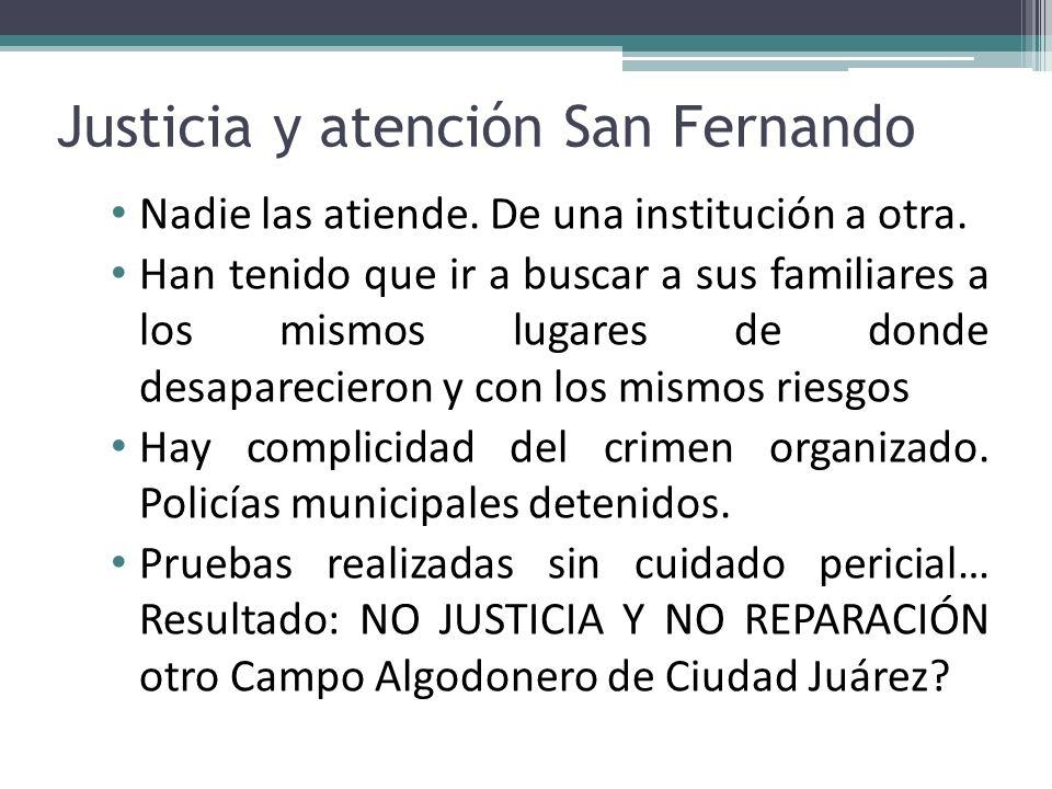 Justicia y atención San Fernando