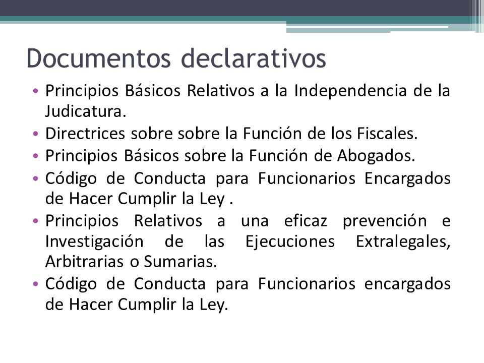Documentos declarativos