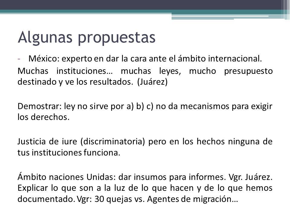 Algunas propuestas México: experto en dar la cara ante el ámbito internacional.