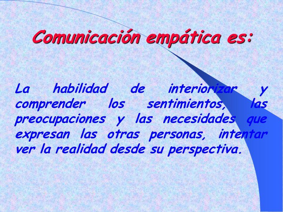 Comunicación empática es: