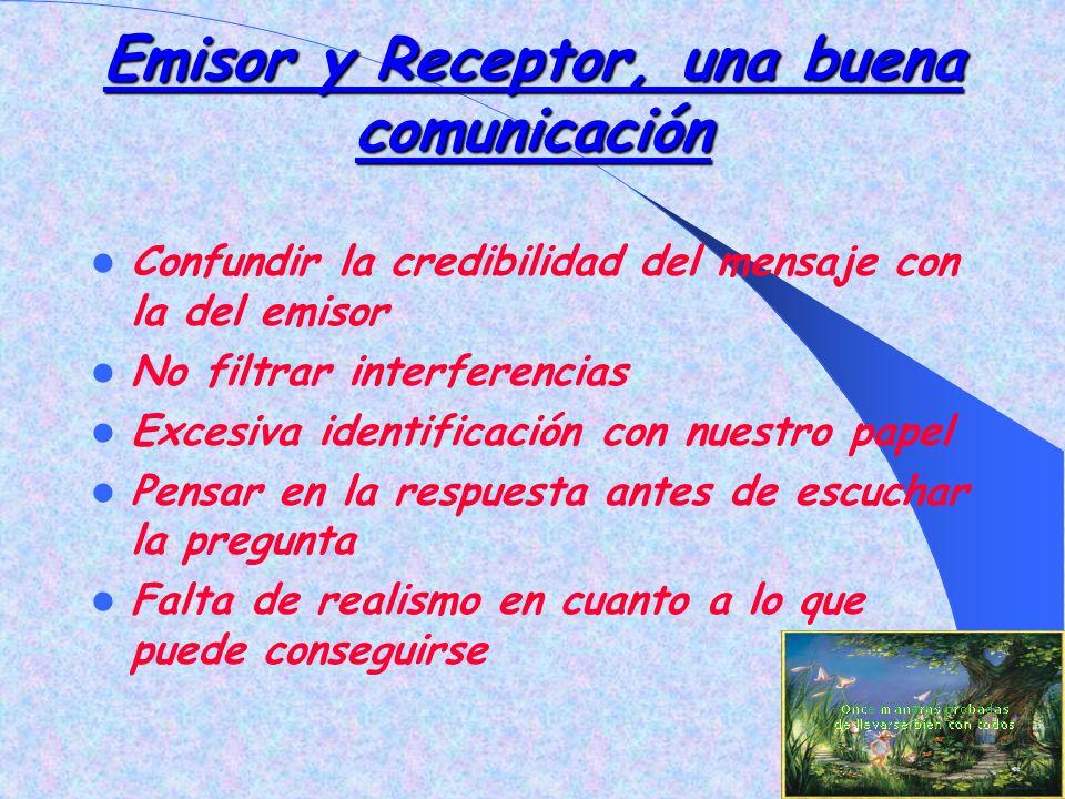 Emisor y Receptor, una buena comunicación