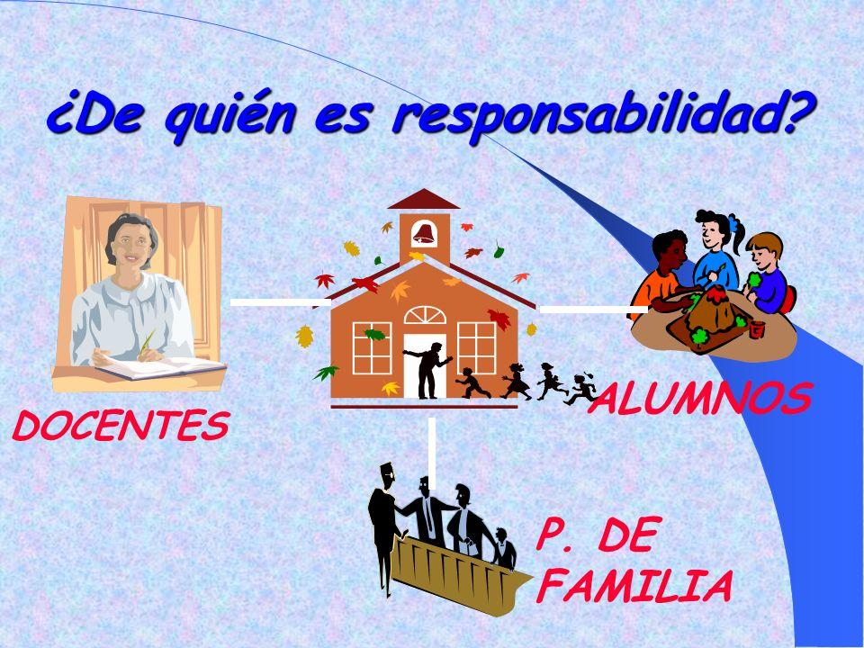¿De quién es responsabilidad