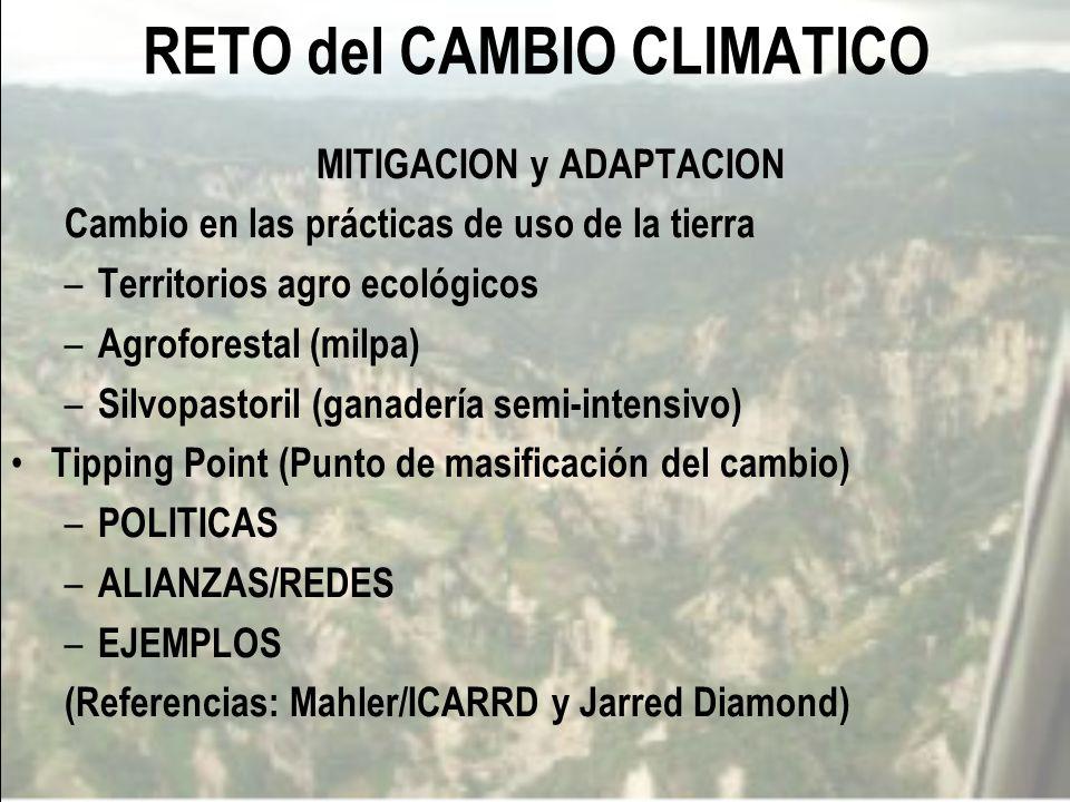 RETO del CAMBIO CLIMATICO