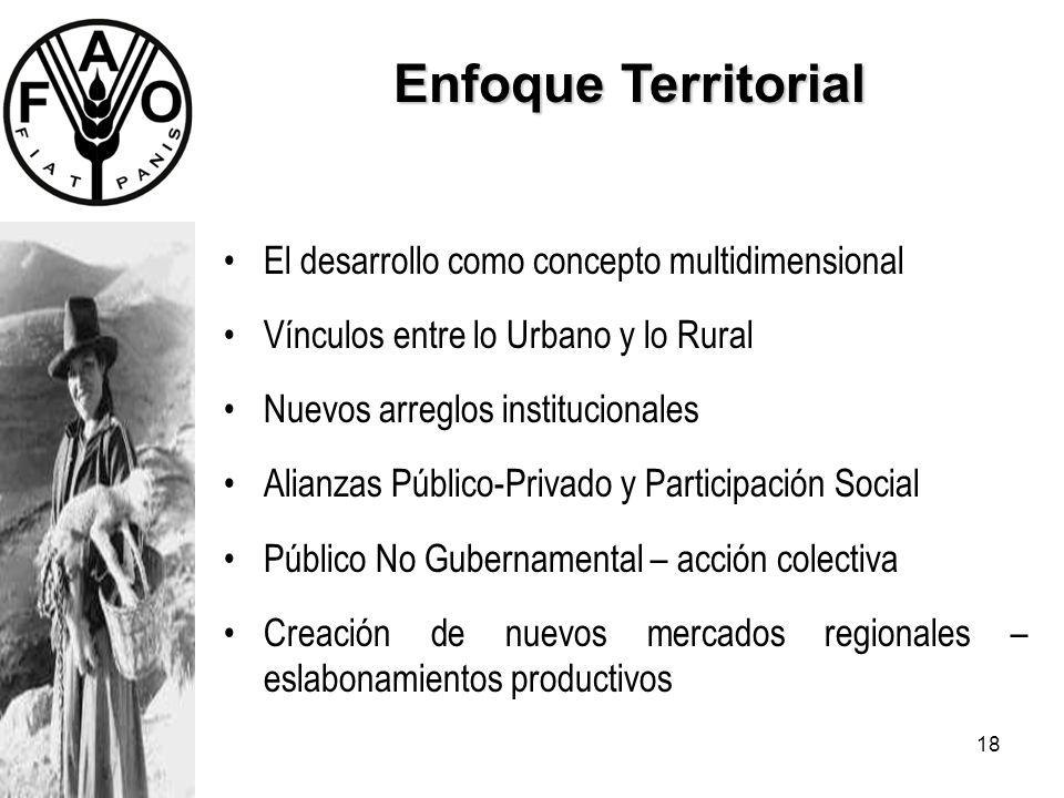 Enfoque Territorial El desarrollo como concepto multidimensional