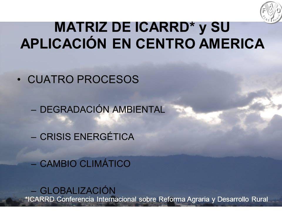 MATRIZ DE ICARRD* y SU APLICACIÓN EN CENTRO AMERICA