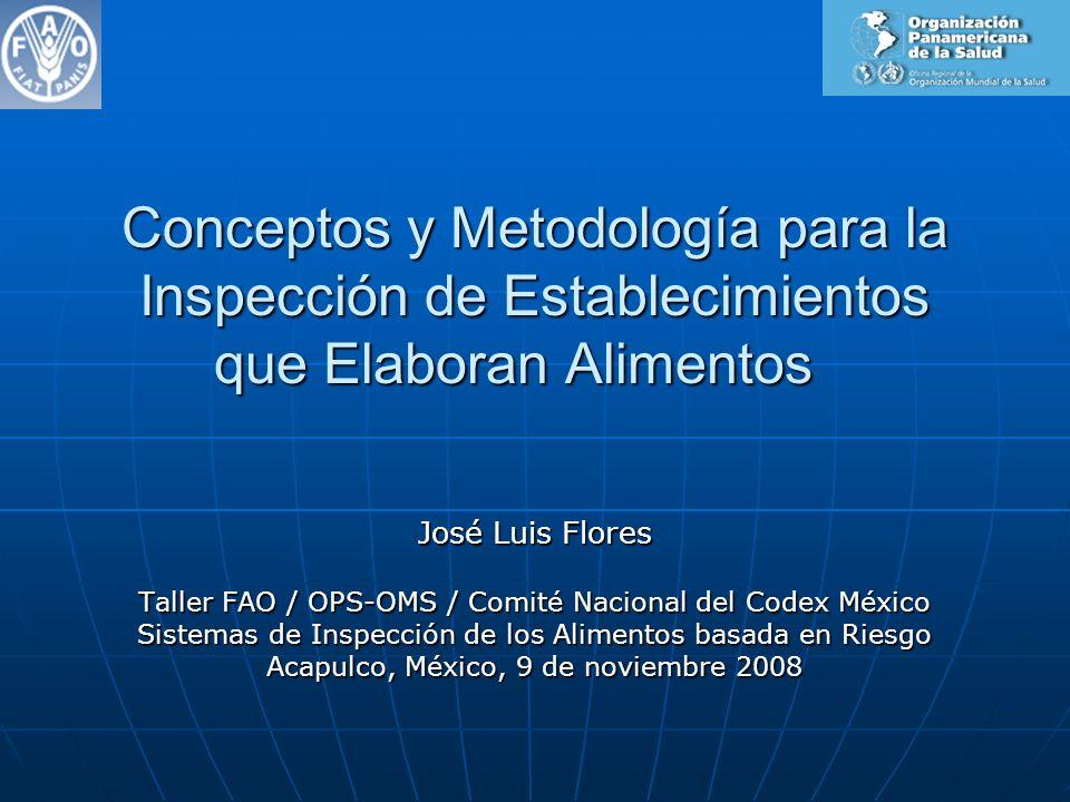Conceptos y Metodología para la Inspección de Establecimientos que Elaboran Alimentos