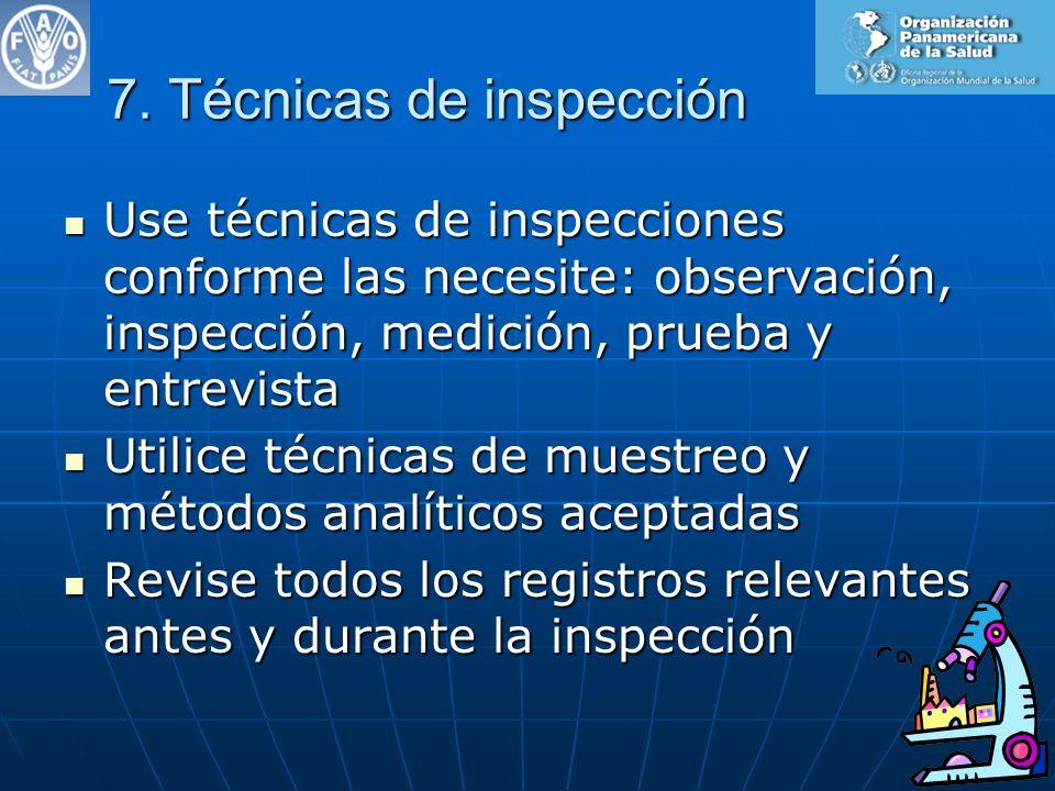 7. Técnicas de inspección